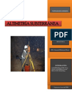 Altimetria Subterranea- Trabajooo Monográfico