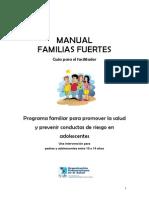 Manual Familias Fuertes Guia Para El Facilitador