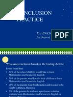 EWC661 Conclusion Practice