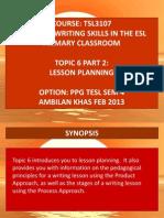 Tsl3107!6!2 Lesson Planning
