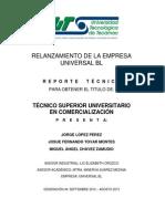 Reporte Tecnico Para Titulacion