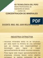 CLASE N°1- INTRODUCCIÓN CONCENTRACIÓN DE MINERALES