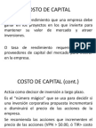 Cos to Capital