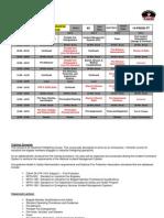 40hr Industrial Firefighting Training Schedule