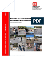 Evaluation of Nondestructive Methods for Determining Pavement Thickness
