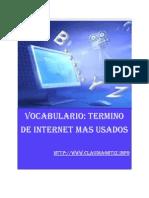 Vocabulario - Terminos de Internet Mas Usados - Claudia Ortiz