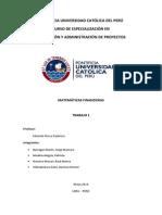Trabajo 1 - Matemática Financiera