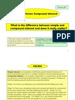 Simple vs Compound Interest