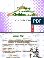 Teaching Demonstration -Clothing Labels