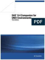 SAS® 9.4 Companion for UNIX EnvironmentsThird EditionSAS