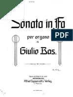 Sonata Per Organo in Fa (1909)