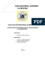 Infoerme de Transductores - Principios de Control y Automatización