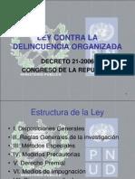 Presentacion Ley Delincuencia Organizada