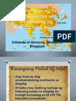 lesson 1 •Ang Ugnayan ng Tao at Kapaligiran sa Paghubog ng Kabihasnang Asyano