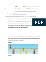 Balancing Act Homework Activity 1 and 2