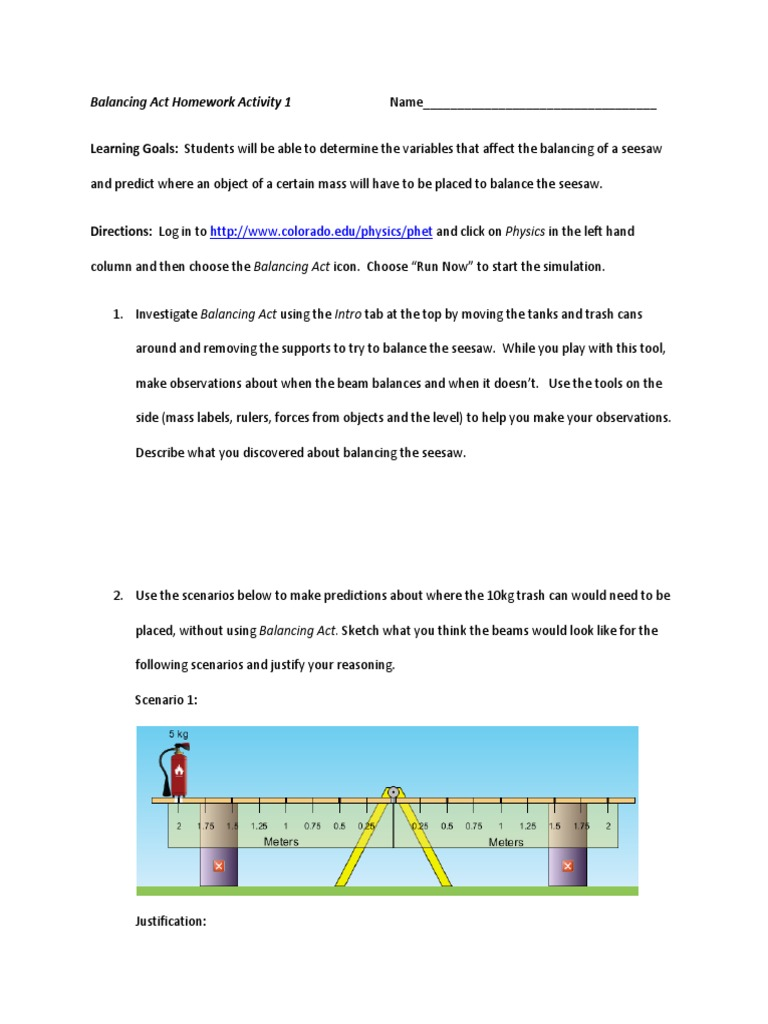 worksheet balancing act worksheet answer key all grade worksheets phet balancing chemical equations worksheet answers act - Balancing Act Worksheet