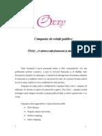 Campanie de Relatii Publice Oxxy