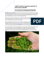 DukeResearcher raises public money to sequence genome of small fern with massive green potential