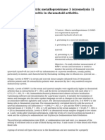 Serum levels of matrix metalloproteinase 3 (stromelysin 1) for monitoring synovitis in rheumatoid arthritis.