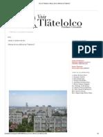 Vivir en Tlatelolco_ Alturas de Los Edificios de Tlatelolco