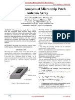 Numerical Analysis of Micro strip Patch Antenna Array
