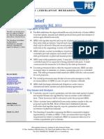 Agricultural Biosecurity - Legislative Brief