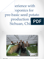 Experience With Aeroponics for Pre Basic Seed Potato Production in Sichuan China by Peter VanderZaag