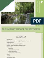 6.10.14 Work Session Presentation FY 2015 Preliminary Budget Presentation
