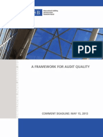 A Framework for Audit Quality