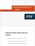 Variety Resources on Earth Quiz