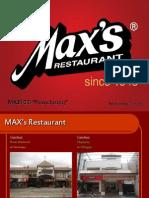 MAX'S Restaurant Profile