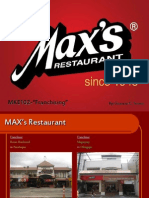 MAX'S Restaurant Profile