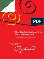 A Complete Handwritten Calligraphy Book by Raj Kumar Bejjanki