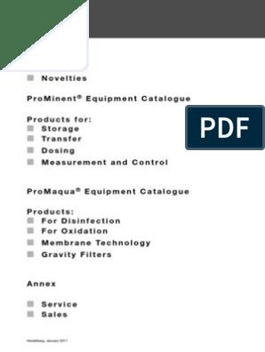 Prominent Dosing Pump Catalogue