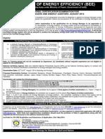 Beeindia.in Energy Managers Auditors Documents Exam Advt.15thExam
