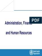 Admin Finance and HR