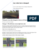 two give way rules have changed