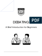 Debating an Introduction for Beginners