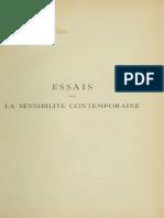 Essais Sur La Sensibilité Contemporaine. Nietzsche, Bergson, Debussy (R. Cor)