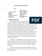 Michael Faypon Psychological Report