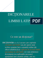 Latina Curs III Dictionar