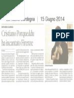 [Ita] - La Nuova Sardegna - Concerto Porqueddu Firenze 2014 /1