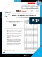 Soalan Klon Sebenar Matematik 2010 [Kertas 2]