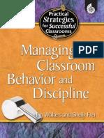 Managing Classroom Behavior & Discipline (Practical Strategies for Successful Classrooms)