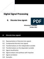 Itroduction to  Discrete Time Signals