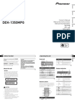 Operating Manual (Deh-1350mp) (Deh-1350mpg) - Eng - Esp - Por