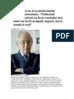 Ultimul Interviu Al Academicianului Florin Constantiniu