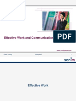 Effective Work and Communication