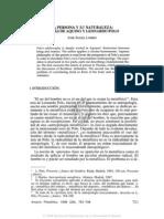 26. La Persona y Su Naturaleza, Tomás de Aquino y Leonardo Polo, José Ángel Lombo