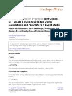 Custom Schedule Event Studio